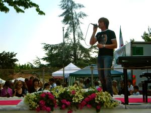Andrea Casagrande - Momenti sul palco - Concerto Paese in Fiore 2009